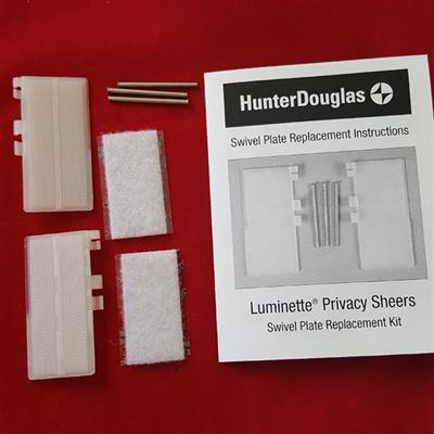End Treatment Swivel Plates Set For Luminette Hunter Douglas