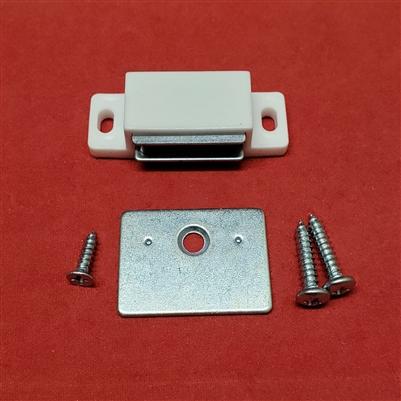 Magnet Catch Amp Plate Assembly Kit For Shutter White