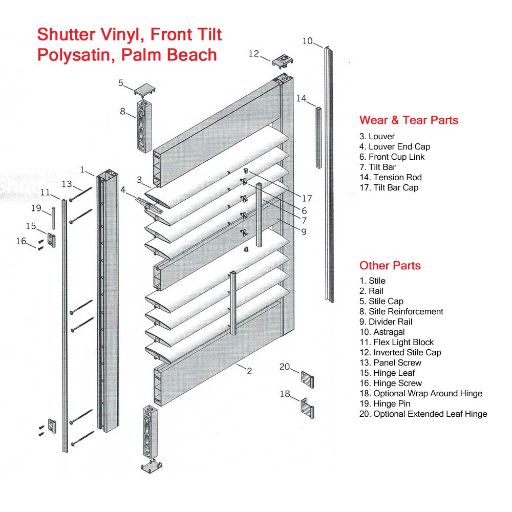 Diagrams For Window Coverings Blinds Parts