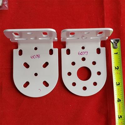 L Bracket Clutch End Amp Idle End White Metal For 2